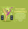 rhythmic gymnastics dance music concept banner vector image vector image