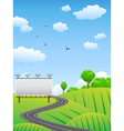 Road with billboard on countryside vector | Price: 1 Credit (USD $1)