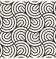 seamless pattern concentric semi-circles vector image