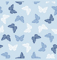 seamless pattern with butterflies vector image vector image