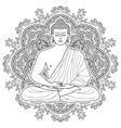 Seated meditating Buddha vector image vector image
