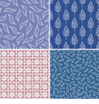 Set of seamless abstract and floral patterns vector | Price: 1 Credit (USD $1)