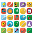 set of twenty five colored flat style tools icons vector image vector image