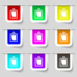 sheet of paper icon sign Set of multicolored vector image