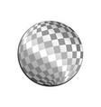 silver light disco ball graphic design vector image