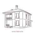 sketch individual house vector image vector image