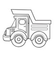 sketch truck coloring book isolated object vector image vector image