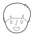 smiling young face boy cartoon male vector image