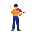 teen boy playing violin musical instrument young vector image vector image