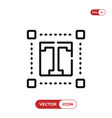 text editor icon vector image vector image