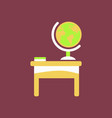 the table icon workplace and job office working vector image vector image
