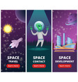 vertical banners with pictures space vector image vector image
