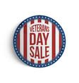 veterans day big patriotic circle emblem vector image