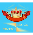 vintage background with crown vector image vector image