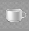 white coffee mug realistic ceramic cup mockup vector image vector image