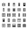 window shutters set vector image