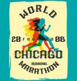 world marathon series retro poster vector image vector image
