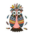 boho collection with wild west owl vector image