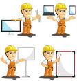 Industrial Construction Worker Mascot 16 vector image