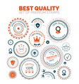best quality set of premium stamps vector image
