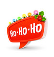 christmas bubble for speech vector image