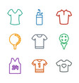 9 tee icons vector image vector image
