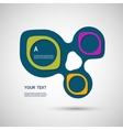 abstract colored shapes on a white background vector image vector image