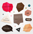 Abstract Sticker Set vector image