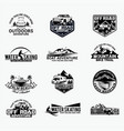 adventure logo badges 9 vector image vector image