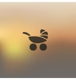baby buggy icon on blurred background vector image vector image