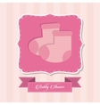 Baby Shower design sock icon graphic vector image vector image