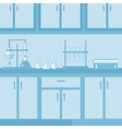 Background of laboratory interior vector image