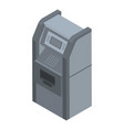 bank atm icon isometric style vector image vector image