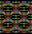 baroque embroidery seamless pattern floral vector image