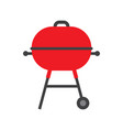 bbq grill with red cap isolated on white vector image
