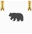 Bear symbol - vector image vector image