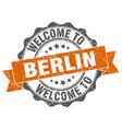 berlin round ribbon seal vector image vector image