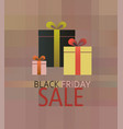 black friday sale present box background vector image vector image