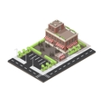 Cafe Building Isometric Layout vector image vector image
