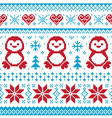 Christmas knitted pattern scandynavian sweater vector image vector image