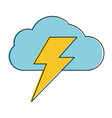 cloud with lightning ray icon image vector image vector image