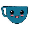 coffee cup kawai character vector image
