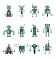 Collection of robot icons vector image
