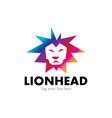 colorful lion logo vector image