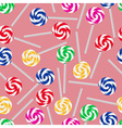 colorful sweet lollipops seamless pattern eps10 vector image vector image