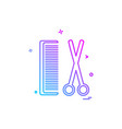 comb and scissor icon design vector image