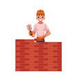 construction worker builder in hardhat building vector image vector image