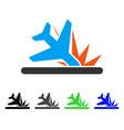 crash landing flat icon vector image