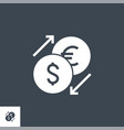 currency exchange related glyph icon vector image vector image