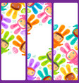 easter banner with egg hunting rabbit children vector image vector image